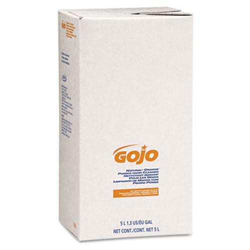 GOJO NATURAL ORANGE Pumice Hand Cleaner Refill, Citrus Scent, 5000mL, 2/Carton (GOJ 7556)
