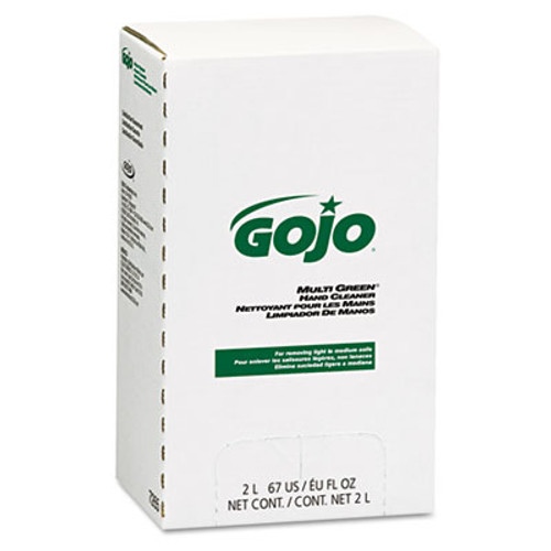 GOJO MULTI GREEN Hand Cleaner Refill, 2000mL, Citrus Scent, Green, 4/Carton (GOJ 7265)