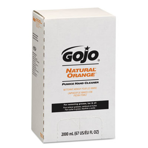 GOJO NATURAL ORANGE Pumice Hand Cleaner Refill, Citrus Scent, 2000mL, 4/Carton (GOJ 7255)