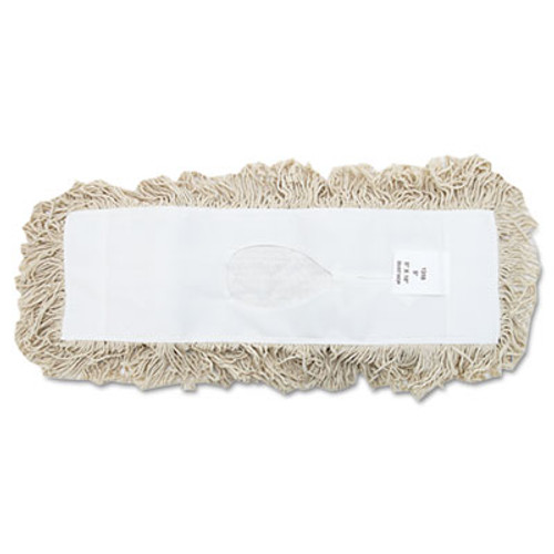 Boardwalk Industrial Dust Mop Head  Hygrade Cotton  18w x 5d  White (UNS 1318)
