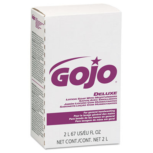 GOJO NXT Deluxe Lotion Soap with Moisturizers  Floral  Pink  2000 mL Refill  4 Carton (GOJ 2217)
