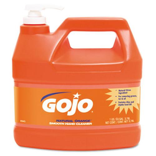 GOJO NATURAL ORANGE Smooth Hand Cleaner, 1gal, Pump Dispenser, Citrus Scent, 4/Carton (GOJ 0945-04)