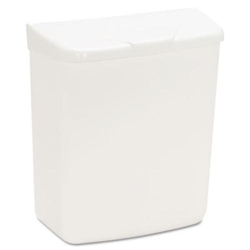 HOSPECO Wall Mount Sanitary Napkin Receptacle-ABS  PPC Plastic  1 gal  White (HOS 250/201W)