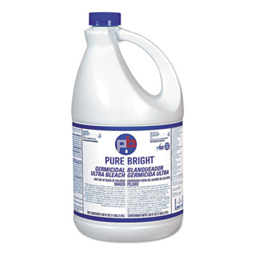 Pure Bright Liquid Bleach, 1gal Bottle, 6/Carton (KIK BLEACH6)