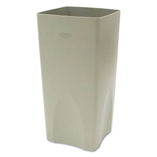 Rubbermaid Commercial Plaza Waste Container Rigid Liner  Square  Plastic  19 gal  Beige (RCP 3563 BEI)