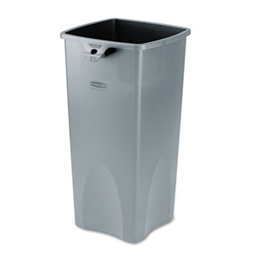 Rubbermaid Commercial Untouchable Square Waste Receptacle  Plastic  23 gal  Gray (RCP 3569-88 GRA)