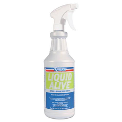 Dymon LIQUID ALIVE Odor Digester  32 oz Bottle  12 Carton (DYM 33632)