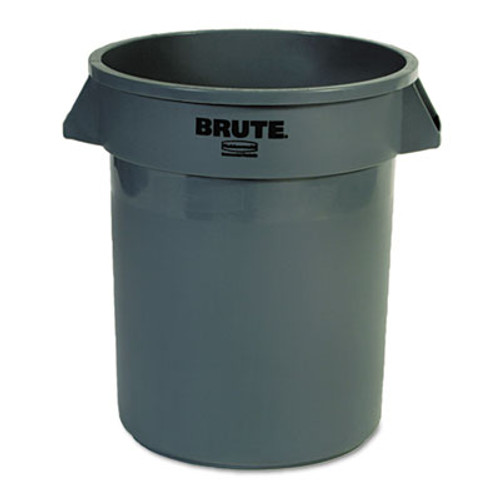 Rubbermaid Commercial Round Brute Container, Plastic, 20 gal, Gray (RCP262000GRA)