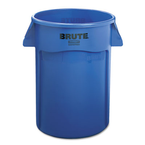Rubbermaid Commercial Brute Vented Trash Receptacle, Round, 44 gal, Blue (RCP 2643-60 BLU)