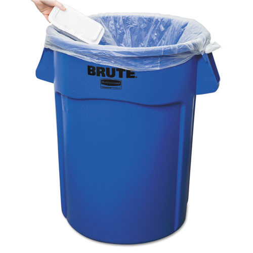 Rubbermaid Commercial Brute Vented Trash Receptacle  Round  44 gal  Blue (RCP 2643-60 BLU)