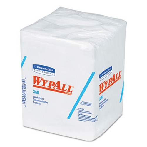 WypAll* X60 Washcloths, 12 1/2 x 10, White, 70/Pack, 8 Packs/Carton (KCC 41083)