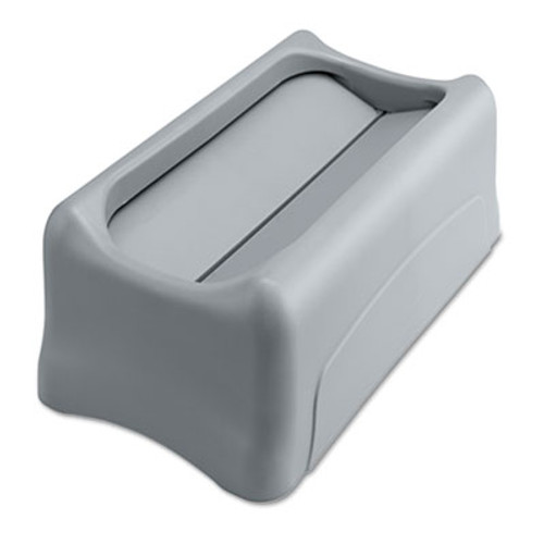 Rubbermaid Commercial Swing Lid for Slim Jim Waste Container  Gray (RCP 2673-60 GRA)