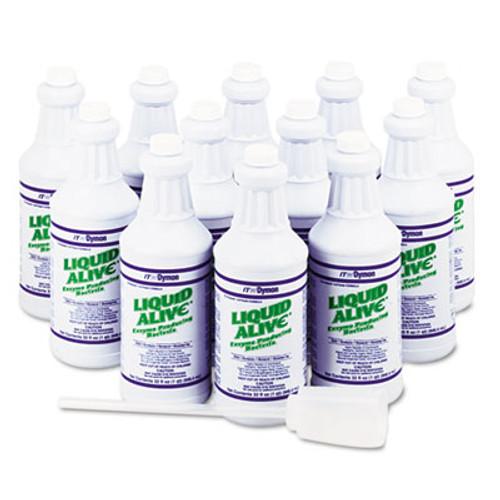 Dymon LIQUID ALIVE Enzyme Producing Bacteria  32 oz  Bottle  12 Carton (DYM 23332)