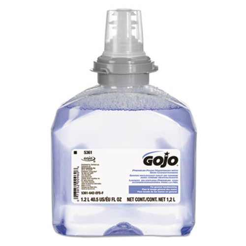 GOJO TFX Luxury Foam Hand Wash, Fresh Scent, Dispenser, 1200mL, 2/Carton (GOJ 5361-02)