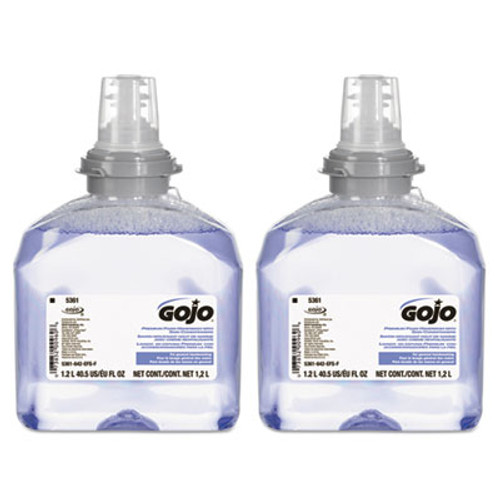 GOJO TFX Luxury Foam Hand Wash  Fresh Scent  Refill  1200mL  2 Carton (GOJ 5361-02)