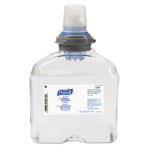 PURELL Advanced TFX Foam Instant Hand Sanitizer Refill, 1200mL, White (GOJ 5392-02)