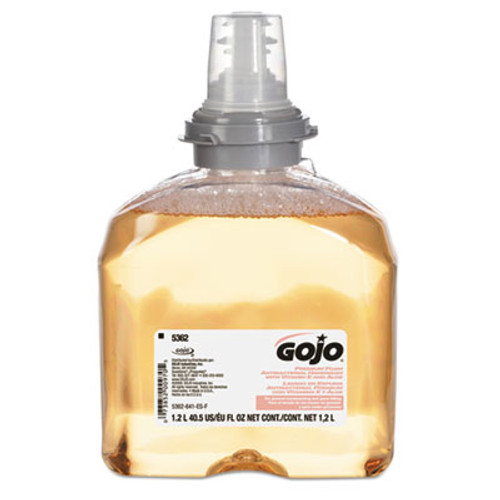 GOJO Premium Foam Antibacterial Hand Wash  Fresh Fruit Scent  1200mL  2 Carton (GOJ 5362-02)