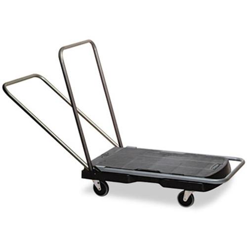 "Rubbermaid Commercial Utility-Duty Home/Office Cart, 250 lb Capacity, 20 1/2"" x 32 1/2"" Platform, BK (RCP 4400 BLA)"
