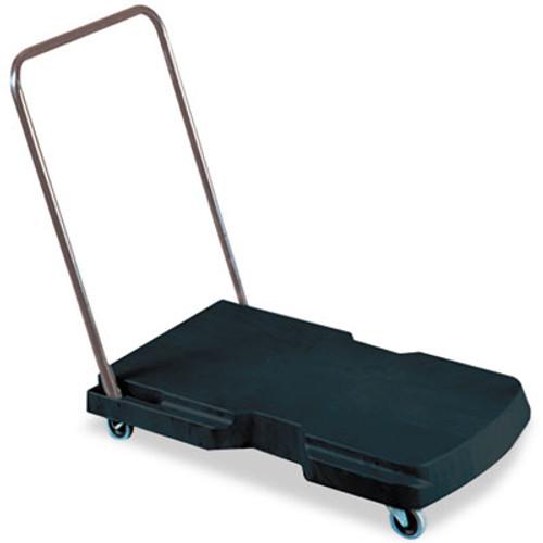 Rubbermaid Commercial Utility-Duty Home Office Cart  250 lb Capacity  20 5 x 32 5  Platform  Black (RCP 4400 BLA)