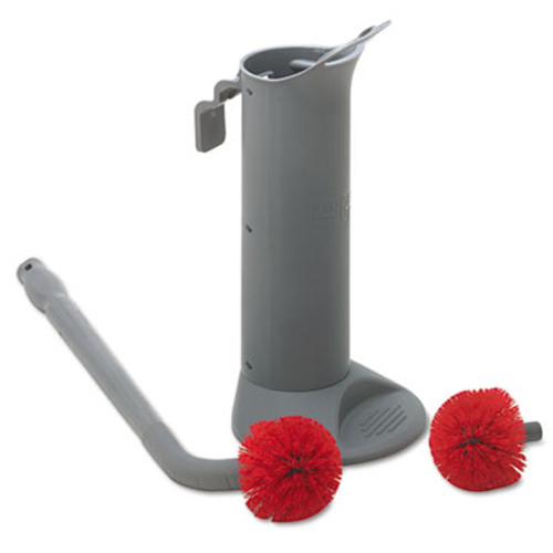 Unger Ergo Toilet Bowl Brush Complete  Wand  Brush Holder   2 Heads (UNG BBWHR)
