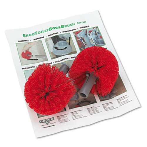 Unger Replacement Heads for Ergo Toilet-Bowl-Brush System  2 Pack (UNG BBRHR)