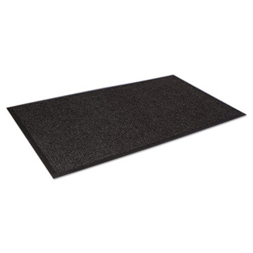 Crown Super-Soaker Wiper Mat with Gripper Bottom  Polypropylene  36 x 120  Charcoal (CRO SS310 CHA)