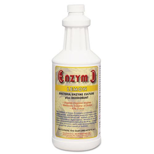 Big D Industries Enzym D Digester Liquid Deodorant  Lemon  32oz  12 Carton (BGD 500)