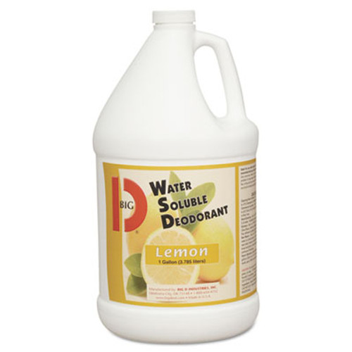 Big D Industries Water-Soluble Deodorant  Lemon Scent  1 gallon Bottles  4 Carton (BGD 1618)