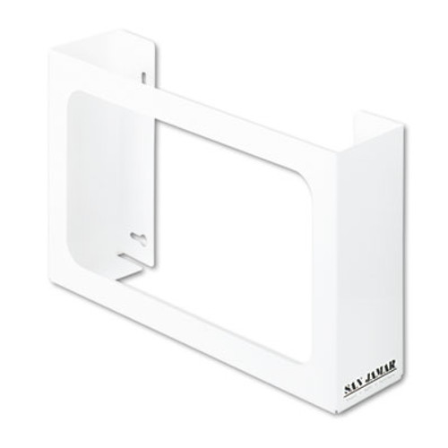 San Jamar White Enamel Disposable Glove Dispenser  Three-Box  18w x 3 3 4d x 10h (SAN G0804)