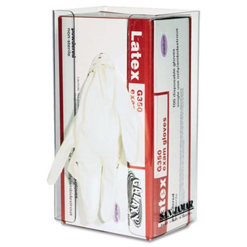 San Jamar Clear Plexiglas Disposable Glove Dispenser  Single-Box  5 1 2w x 3 3 4d x 10h (SAN G0803)