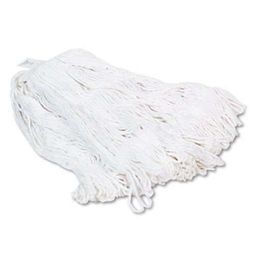 Boardwalk Pro Loop Web Tailband Wet Mop Head  Rayon  24oz  White  12 Carton (UNS 424R)