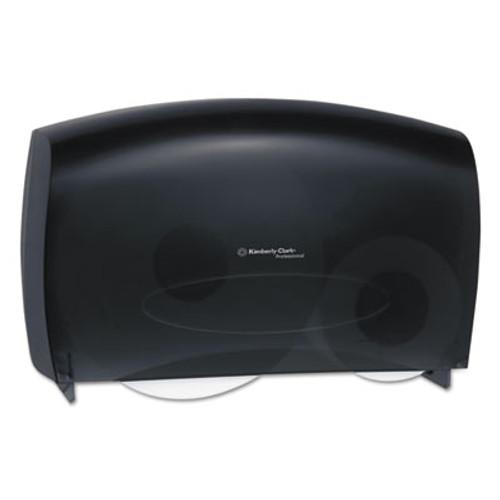 Kimberly-Clark Professional* Cored JRT Jumbo Combo Tissue Dispenser  20 2 5w x 5 4 5d x 13 1 10h  Smoke Gray (KCC 09551)