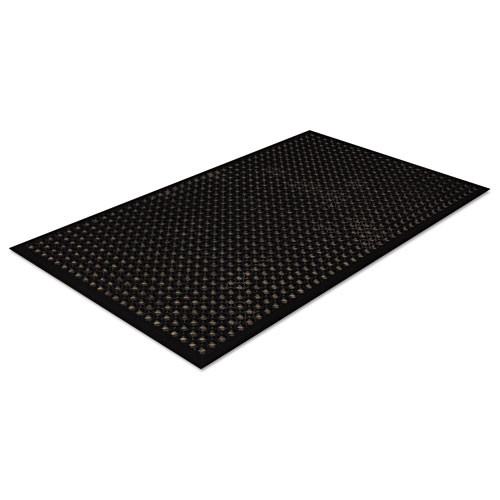 Crown Safewalk-Light Drainage Safety Mat  Rubber  36 x 60  Black (CRO WSCT35 BLA)