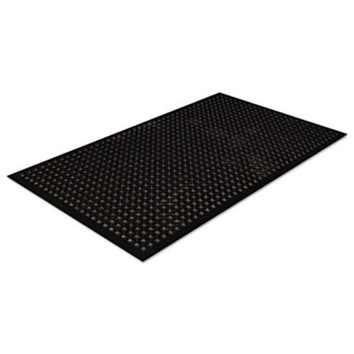 Crown Safewalk-Light Drainage Safety Mat  Rubber  36 x 60  Black (CRO WSCT35 BLA)