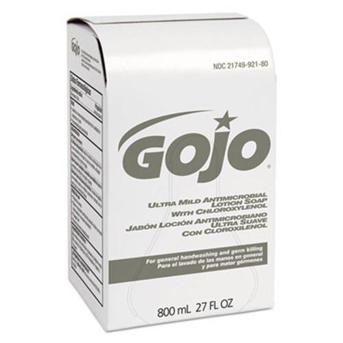 GOJO Ultra Mild Lotion Soap w Chloroxylenol Refill  Floral Balsam  800mL  12 Carton (GOJ 9212-12)
