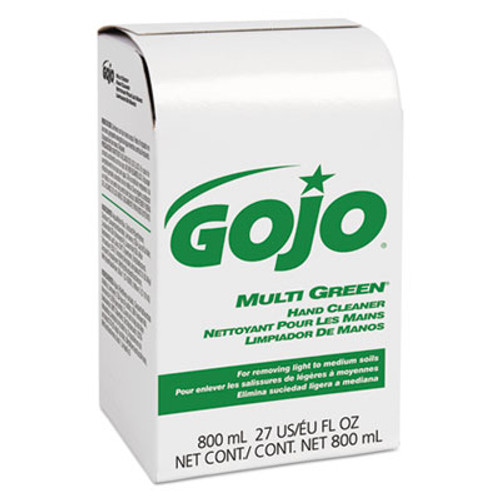 GOJO MULTI GREEN Hand Cleaner 800mL Bag-in-Box Dispenser Refill, 12/Carton (GOJ 9172)