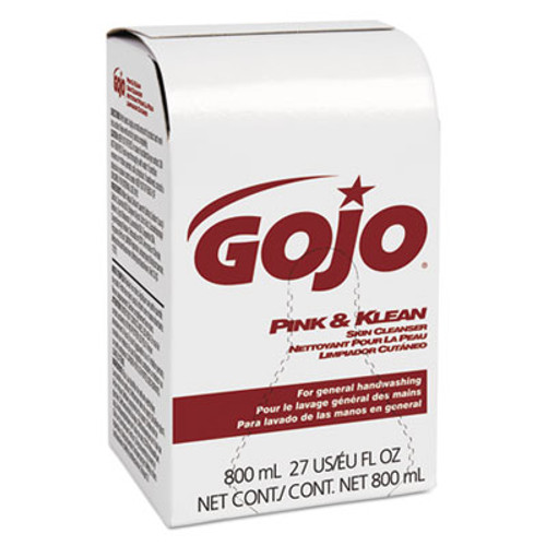 GOJO Pink & Klean Skin Cleanser 800mL Dispenser Refill, Floral, 12/Carton (GOJ 9128-12)