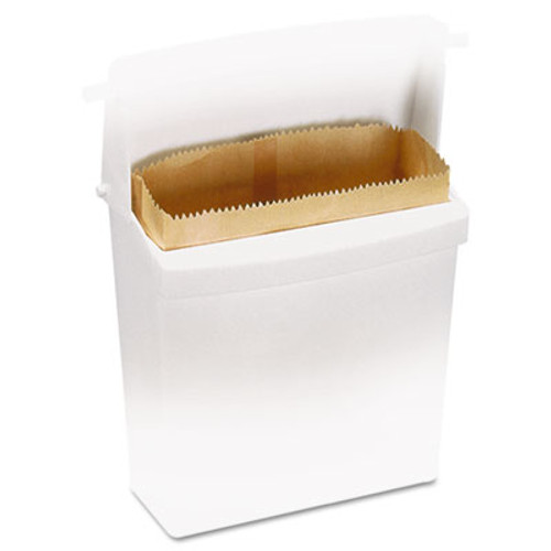 Rubbermaid Commercial Waxed Napkin Receptacle Liners, 2 3/4 x 8 34 x 8 1/2, Brown (RCP 6141)