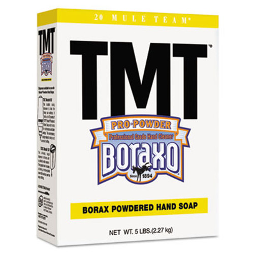 Boraxo TMT Powdered Hand Soap  Unscented Powder  5lb Box  10 Carton (DIA02561CT)