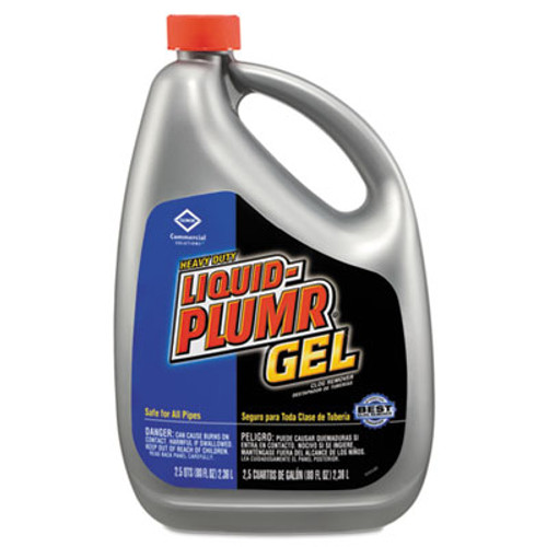 Liquid Plumr Heavy-Duty Clog Remover  Gel  80oz Bottle  6 Carton (CLO 35286)