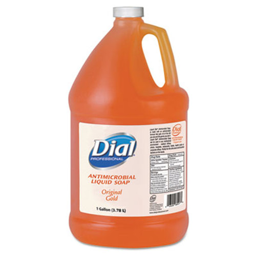 Dial Professional Gold Antimicrobial Liquid Hand Soap  Floral Fragrance  1 gal Bottle  4 Carton (DIA 88047)