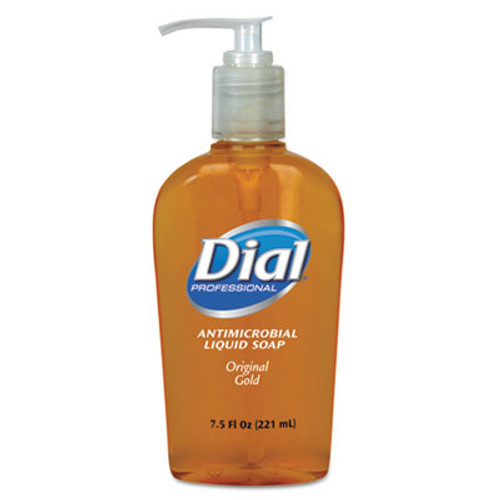 Dial Professional Gold Antimicrobial Hand Soap, Floral Fragrance, 7.5oz Pump Bottle, 12/Carton (DIA 84014)