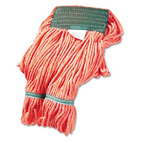 Boardwalk Super Loop Wet Mop Head  Cotton Synthetic Fiber  5  Headband  Medium Size  Orange  12 Carton (UNS 502OR)