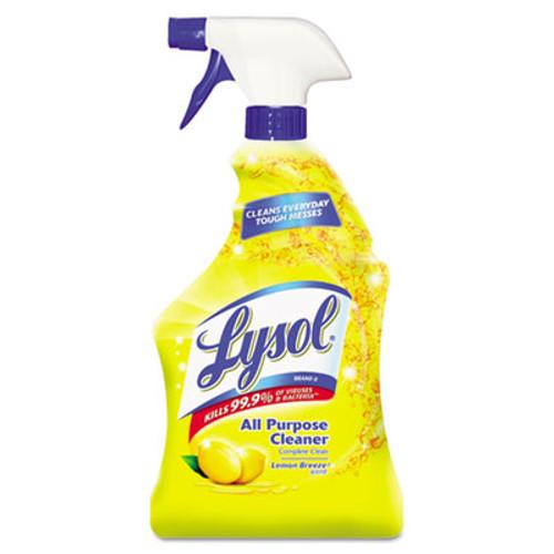 LYSOL Brand Ready-to-Use All-Purpose Cleaner  Lemon Breeze  32 oz Spray Bottle  12 Carton (REC 75352)