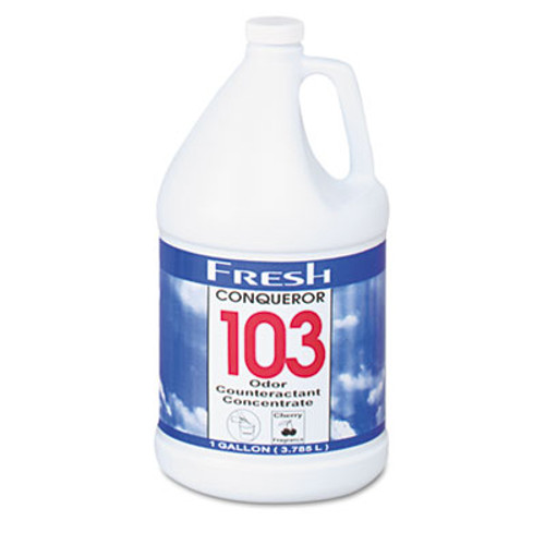 Fresh Products Conqueror 103 Odor Counteractant Concentrate  Cherry  1 gal Bottle  4 Carton (FRS 1-WB-CH)