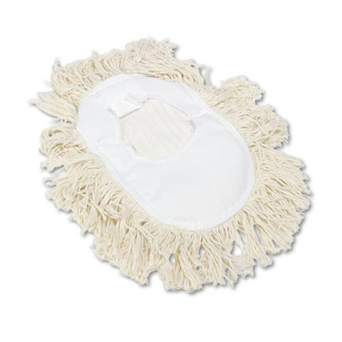 Boardwalk Wedge Dust Mop Head  Cotton  17 1 2l x 13 1 2w  White (UNS 1491)