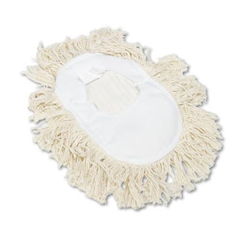 Boardwalk Wedge Dust Mop Head  Cotton  17 1 2l x 13 1 2w  White (UNS 1491)