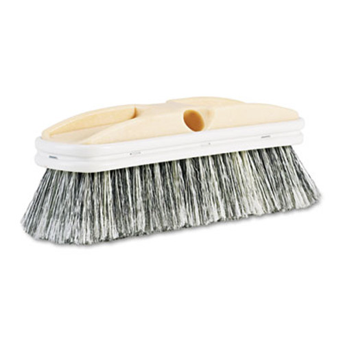 Boardwalk Polystyrene Vehicle Brush w Vinyl Bumper  2 1 2  Bristles  10  Brush (BWK 8410)