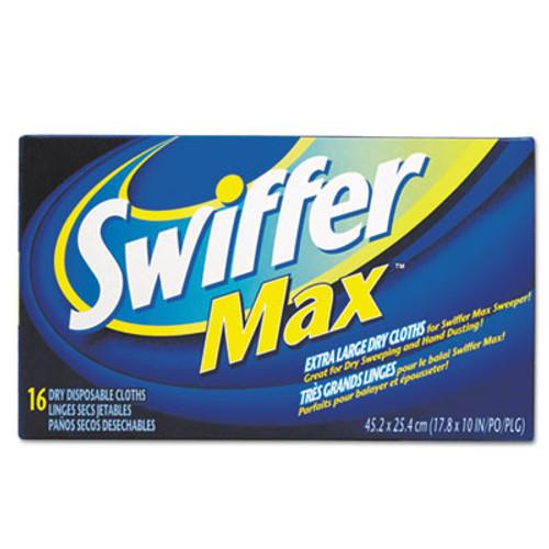 Swiffer Max XL Dry Refill Cloths  17 7 8 x 10  White  16 Box  6 Boxes Carton (PGC 37109)