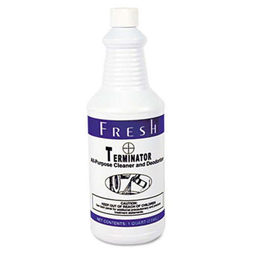 Fresh Products Terminator Deodorizer All-Purpose Cleaner  32oz Bottles  12 Carton (FRS 12-32-TN)